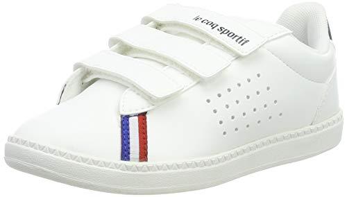 le coq Sportif Unisex-Kinder COURTSTAR PS Sport BBR Optical White/DRE Sneaker, Weiß Dress Blue, 34 EU