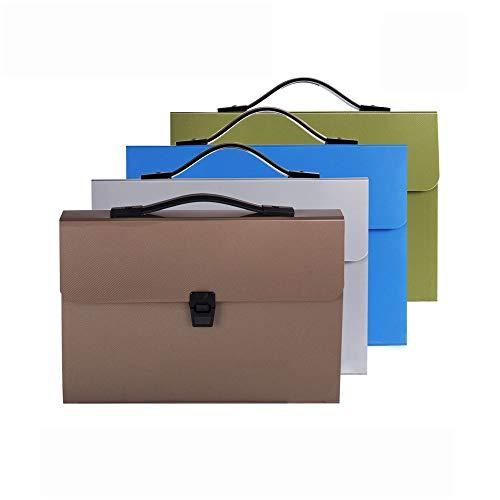 Madeinely File Folder 14-Fach Staubdichtes Bill Speicher Document-Pack tragbare Hand Akkordeon Folders Geeignet for Schüler-Test Paper Clips Bürobedarf Speicher (Farbe : 4 Pieces, Größe : 34x25x4cm)
