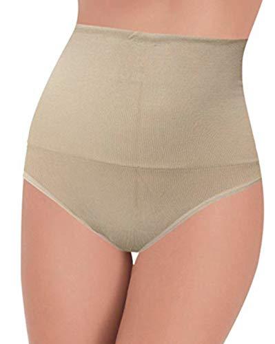 Guaina contenitiva modellante senza cuciture con fascia seamless azione riducente sulla pancia (m/l, skin)