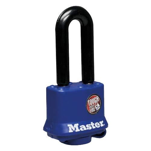 Master Lock Vorhangschloss mit Witterungsschutz VHS 312-40 mm, Stahlgehäuse mit thermoplastischer Beschichtung, gehärteter Stahlbügel 51 x 10 mm