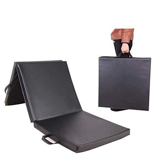Saturey Gymnastikmatte, Rutschfeste Trainings- und Fitnessmatte Übung Dreifachgefaltete Turnmatte Aerobic Yoga Taumelmatten 6 \'x 2\',Gray