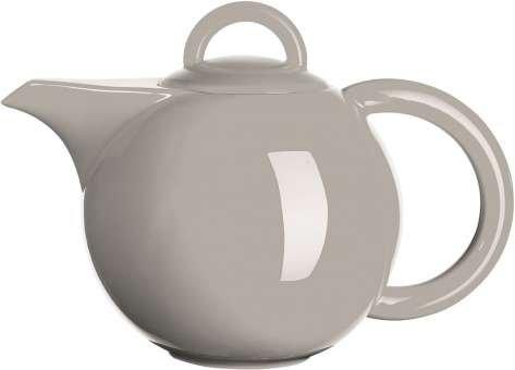 ASA 92041054 Moa Théière en porcelaine, gris, 26 x 21 x 20 cm