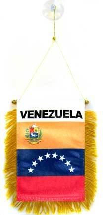 AZ FLAG Fanion Vénézuela 15x10cm - Mini Drapeau vénézuelien 10 x 15 cm spécial Voiture - Bannière
