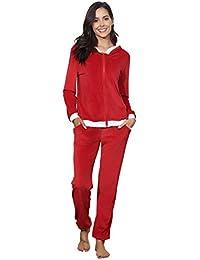 f76766b5040f8 Abollria Survêtement Femme Ensembles Sportswear Sweat Capuche Suit Zipper  Pull à Capuche avec Poches Casual Jogging