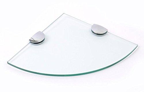 200mm (20,3cm circa) 6mm di spessore vetro temperato mensola angolare bagno camera cucina con grande cromato supporta