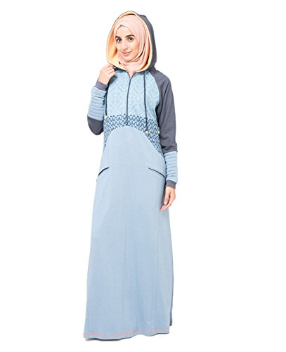 Silk Route SnowFlake Print Modest Fashion Abaya Jilbab