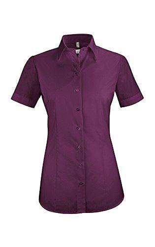 GREIFF Damen-Bluse Basic, Regular Fit, Stretch, Easy-Care, 6516, Brombeere, Größe 38