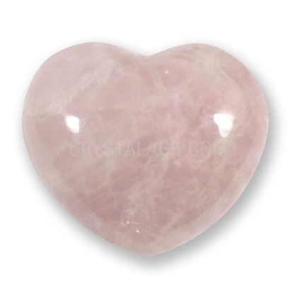 Corazón de cristal de cuarzo rosa, 4cm