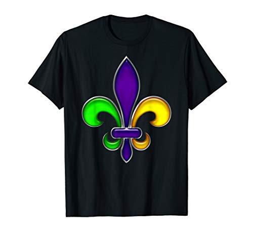 Fleur De Lis Mardi Gras Karneval Fasching Party T-Shirt - Gras Lis-mardi Fleur De