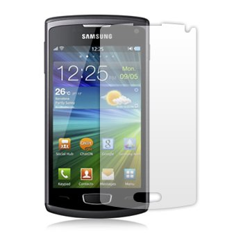 6 in 1 Packung Displayschutzfolie passgenau für Samsung GT-S8600 Wave 3 III - 3-lagiger LCD Displayschutzhüllei