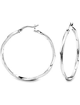 amor Damen-Creolen 925 Silber rhodiniert 4.2 cm - 2017269