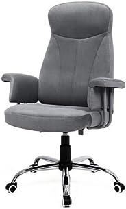 Songmics OBG41G Bureaustoel, directiestoel, draaistoel, computerstoel, zithoogteverstelling office stoel, bekleding