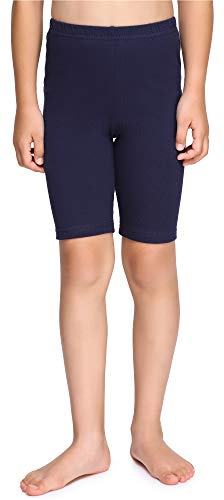 Merry Style Leggings Corti Bambina e Ragazza MS10-227(Blu Marino, 134 cm)