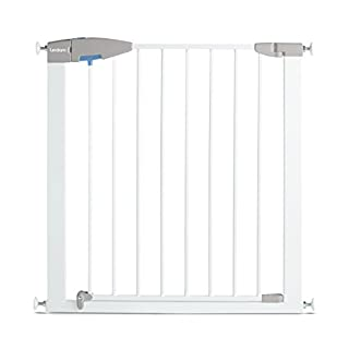 Lindam - Barrera de seguridad con puerta. Fijación a presión. Blanca. 76-82 cm (B001KC05PW) | Amazon Products