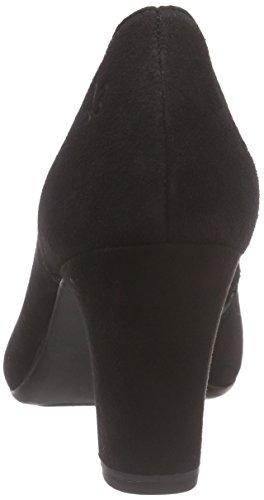 Caprice 29301, Escarpins Bout ouvert femme Noir - Schwarz (BLACK SUEDE 4)