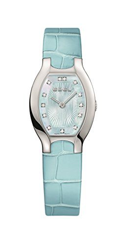 Ebel Women's Blue Leather Band Steel Case S. Sapphire Quartz Watch 1216248