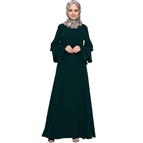 PorLous Muslim Langer Rock, Frau Kleiden Frauen Moslems Normallack-Robe-Kleidung Abaya Islamischer Arabischer Kaftan Dubai Drucken Stickerei Lose Robe