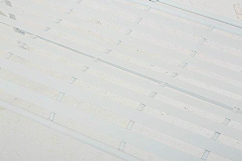 CLP Gartenbank FILIZ im Landhausstil, Eisen lackiert, ca. 105 x 55 cm – 2er Sitzbank Weiß - 7