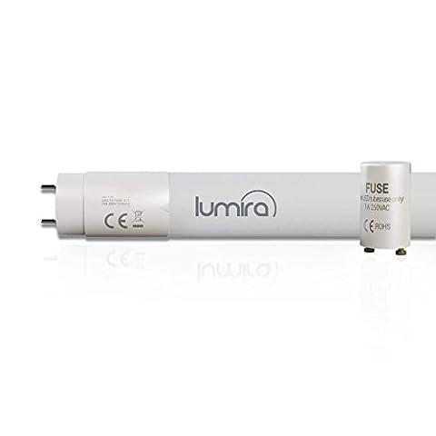 LUMIRA LED G13T8Tube, 150cm Length, 24–58Watt LED Tube Fluorescent Lamp Starter Shatterproof Bridging–2350Lumens, warm white, G13 24.00 wattsW 230.00