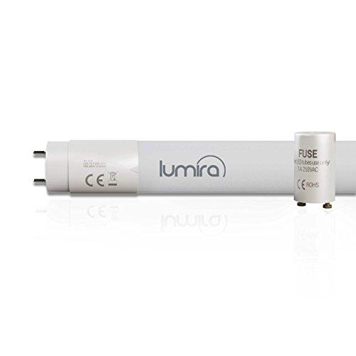 Lumira–Tubo fluorescente LED G13T8, 60cm de longitud, 10W–18W Tubo de repuesto, LED Tube Lámpara fluorescente, irrompible, incluye Starter de Puente, 980lúmenes, Neutralweiß, G13 10.00 wattsW 230.00 voltsV