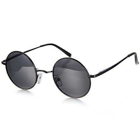 Aroncent Herren Damen Sonnenbrille, Retro Rund Kreis Strahlenschutz Polarisierte Sonnenbrille, Vollrand Sonnenbrille,
