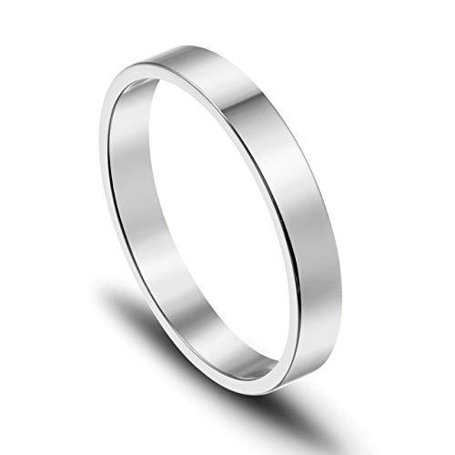 JOVIVI Gratis Gravur - Personalized Edelstahl Ring Silber Damenring Freundschaftsringe Geschenk, US#6