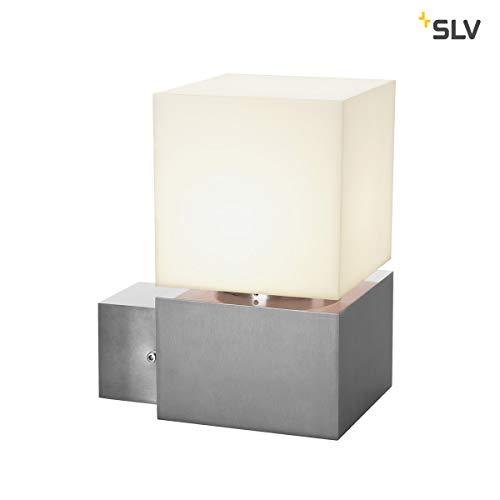 SLV LED Wandlampe SQUARE WL für die effektvolle Außenbeleuchtung von Hauseingang, Wänden, Wegen, Terrassen, Fassaden, Treppen | LED Wandleuchte, Aussenleuchte, Gartenlampe | E27, max. 20W, A - A++ (Einbauleuchte Square Light)