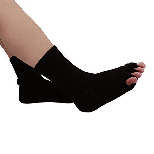 2x Separador Calcetines contra Hallux Valgus, terapia y Relajación de los pies para hombre, mujer y niños Varios Colores