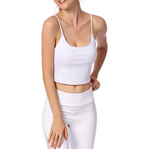 AMURAO Frauen Sport Fit Trocken Top Fitness Gym Pads Weste Yoga Tank Kein Rand Grundlegende Backless Workout Shirts -