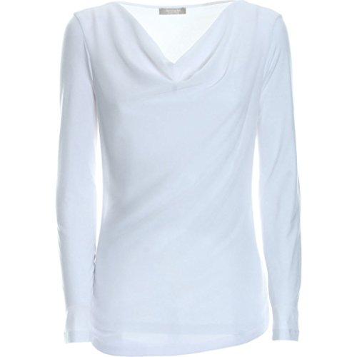 A661410D-707.T shirt collo drappeggio.Bianco.44