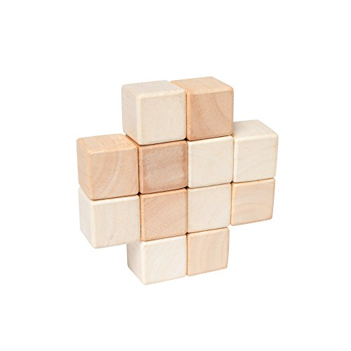 Manhattan Toy - Hochet cubes naturel - Bois massif - 215400