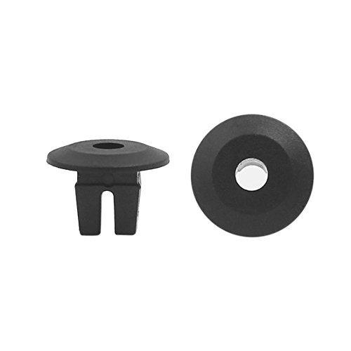 Preisvergleich Produktbild DealMux 100 Stück schwarz 8 x 8 mm Durchmesser Loch Kunststoff-Schraube Fender Körper Tür Nieten für Auto