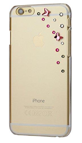 Diamond cover cover con elementi sky swarovski per apple iphone 6, trasparente