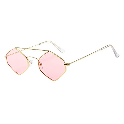 36a0bc45a3d Women Men Vintage Retro Glasses Unisex Rhombus Frame Fashion Sunglasses  Eyewear Proumy (I)