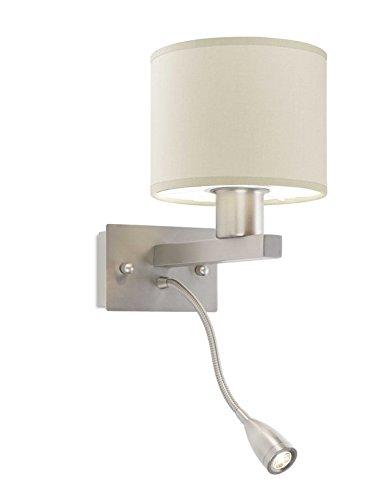 LEDs-C4 05-4695-81-82 Applique 60w torino 1xe27 1xled cree 3w nickel sa
