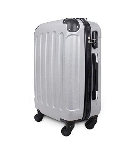 SLmilano Trolley valigia 55cm bagaglio a mano ABS 40L 2.4kg super leggera ORMI (grigio)
