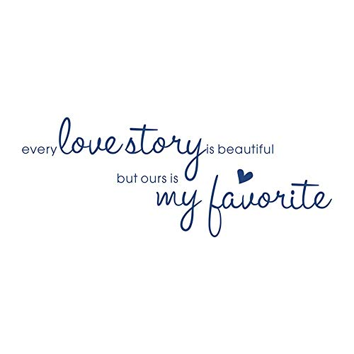 YSFU Stickers muraux Stickers Chaque Histoire d'amour Stickers Muraux Décor À La Maison Sweet Love Romantique Art Stickers Muraux Décoration De La Maison