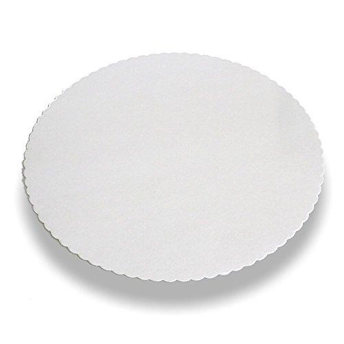 Wertpack 100x Tortenunterlagen weiß, rund, 30cm Durchmesser, PE-beschichtet und gezackt