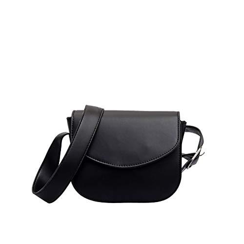 6b1ca10e04fc2 iHAZA Frauen Einfache Tasche Stilvolle Wilde Schulter Tasche Runde  Abdeckung Messenger Bag