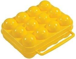 Ad Fresh Plastic 12 Egg Tray Holder (Multicolor, 12 cm x 4.9 cm x 8.4 cm)