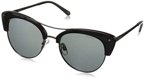Polaroid Polarized Browline/Clubmaster Women's Sunglasses - (PLD 4045/S CVS 51Y2|51|Grey Color) image