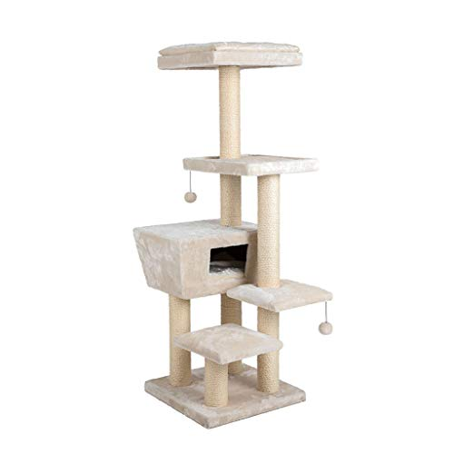 NYJ Cat Scratching Post Pet Activity Center Extra großen Baum mit Scratcher, Rope Bed Lounger