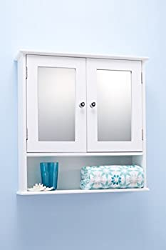 Portland Double Door White Bathroom Mirror Cabinet Mirrored Bathroom Cabinet 2