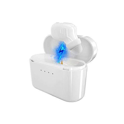 elecfan Singal Bluetooth Kopfhörer Wireless In Ear Kabellos Earbuds Sport Ohrhörer mit integriertes Mikrofon und Ladebox für 3-4 Stunden Spielzeit,Weiß