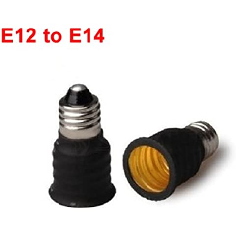 E12 a E14 EE.UU. Base Socket LED Lámparas adaptador convertidor.