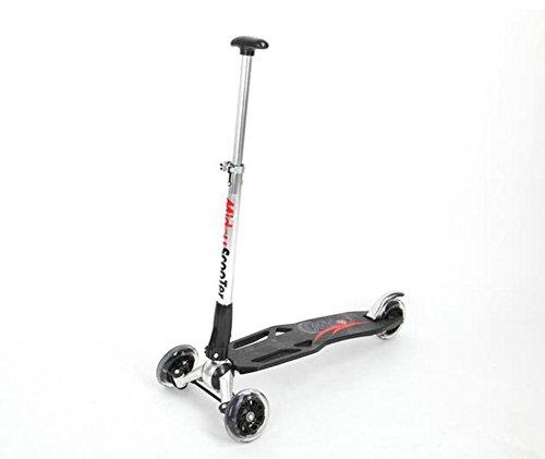 HJXJXJX Tragbarer Faltbarer Schwarzer Scooter Scooter