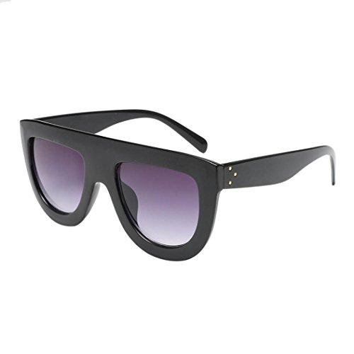 Occhiali da sole da donna uomo polarizzati - beautyjourney occhiali da sole donna rotondi vintage sunglasses cat eye - donna unisex fashion frame colori acetato telaio occhiali da sole uv (c)
