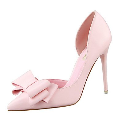 Zormey Frauen Heels Fr¨¹hling Sommer Herbst Winter Club Schuhe Komfort Pu-B¨¹ro & Amp Karriere Party & Amp Abendkleid Stiletto Heel Bowknot Hollow-Out US5 / EU35 / UK3 / CN34