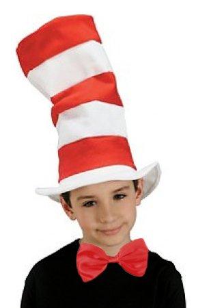 Rot und Weiß gestreift Hut + Fliege Kinder Katze im Hut Fancy Dress Zubehör Taglia unica per bambini Reds