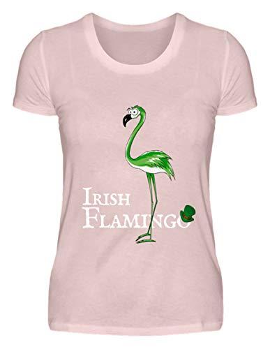 go | Lustiges St Patrick's Day Outfit für (Teil-) irische Flamingo-Liebhaber - Damen Premiumshirt -M-Puder Rosa ()